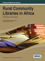 Rural Community Libraries in Africa  Challenges and Impacts PDF