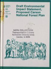 Carson National Forest (N.F.), Proposed Plan: Environmental Impact Statement, Volume 2