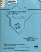 Working Group on Ice Forces PDF