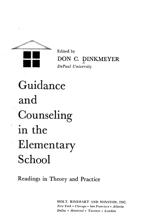 Guidance and Counseling in the Elementary School PDF