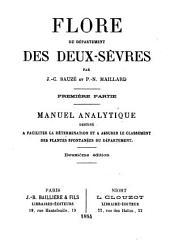 Flore du département des Deux-Sèvres: Partie1