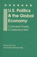 U S  Politics and the Global Economy PDF