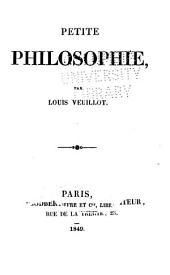 Petite philosophie