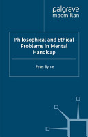 Philosophical and Ethical Problems in Mental Handicap PDF