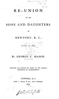 Re union of the Sons and Daughters of Newport  R  I   August 23  1859 PDF