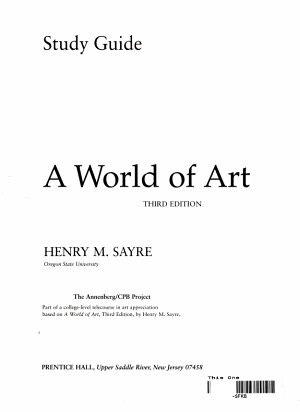 Study Guide  for  A World of Art