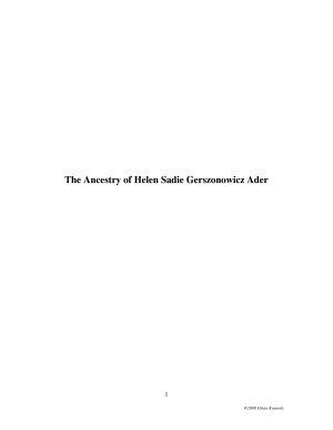 The Ancestry of Helen Sadie Gerszonowicz Ader PDF