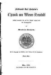 Chronik von Wiener-Neustadt