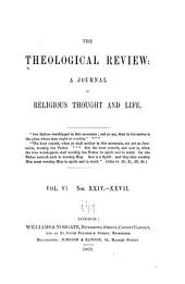 The Theological Review: Volume 6