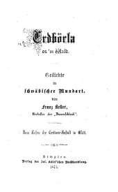 Erdbörla os'm Wald: Gedichte in schwäbischer Mundart