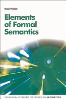 Elements of Formal Semantics PDF