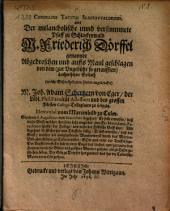 Cornelius Tacitus Slaccawaldensis: oder der melancholische vund verstummete Pfaff zu Schlackenwald M. Friedrich Doerffel