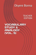 Vocabulary Study & Analogy (Vol. 5)
