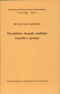 On Infinite Sharply Multiply Transitive Groups Book