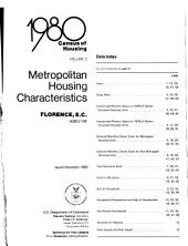 1980 Census of Housing: Metropolitan housing characteristics. Florence, S.C., Volume 2