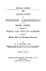 The Analysis of Written Arithmetic PDF