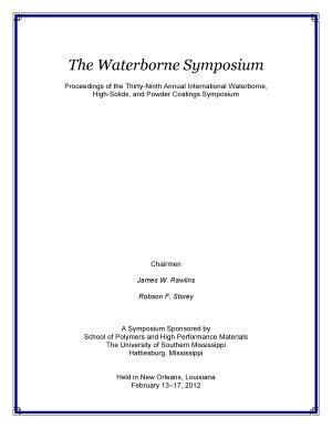 The Waterborne Symposium