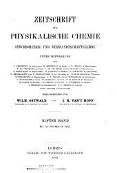 Zeitschrift für physikalische Chemie: Band 11