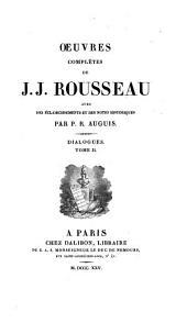 Oeuvres complètes de J.J. Rousseau: Volume20