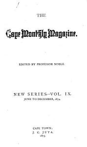 The Cape Monthly Magazine PDF