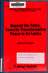 A History of Ethnic Conflict in Sri Lanka  The question of political reforms PDF
