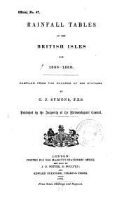 Rainfall Tables of the British Isles for 1866-1880