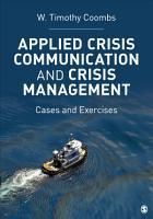 Applied Crisis Communication and Crisis Management PDF