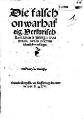 Die falsch ... Lehr Ulr. Zwingli