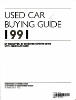 Used Car Buying Guide, 1991