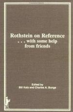 Rothstein on Reference- with Some Help from Friends