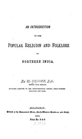 An Introduction to the Popular Religion and Folklore of Northern India PDF