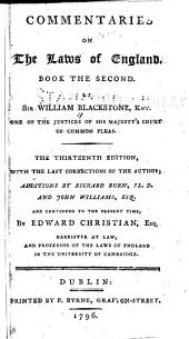 Commentaries on the Laws of England: Volume 2