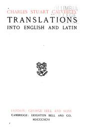 Translation Into English and Latin