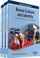 Brand Culture and Identity  Concepts  Methodologies  Tools  and Applications PDF