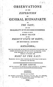 Observations on the Expedition of General Buonaparte to the East