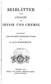 Annalen der Physik: Beiblätter, Band 18
