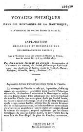 Exploration géologique et minéralogique des montagnes du Vauclin