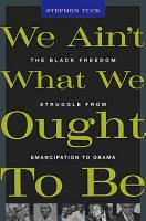 We Ain t what We Ought to be PDF