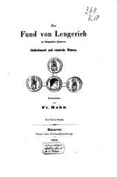 Der Fund von Lengerich im Königreiche Hannover: Goldschmuck und römische Münzen