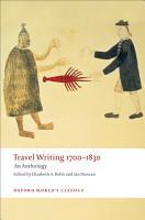 Travel Writing 1700 1830 PDF