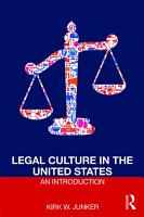 Legal Culture in the United States  An Introduction PDF