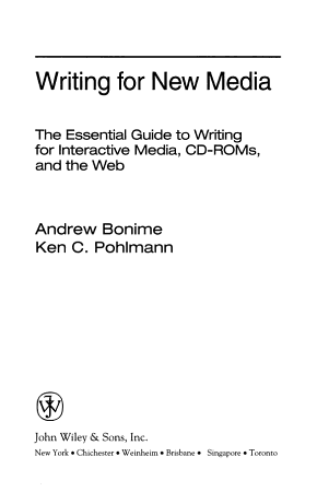 Writing for New Media PDF