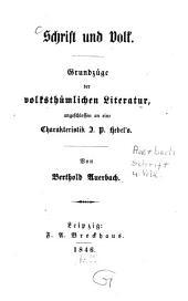 Schrift und Volk: Band 2