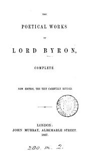 The poetical works of lord Byron  complete   Pearl ed    PDF
