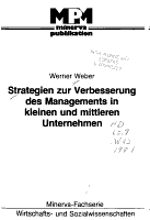 Strategien zur Verbesserung des Managements in kleinen und mittleren Unternehmen PDF