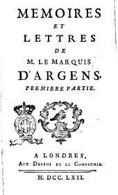 Memoires et Lettres de M. Le Marquis D'Argens
