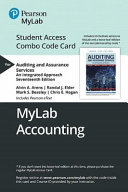 Auditing and Assurance Services Mylab Acccouting Combo Access Card PDF