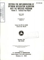 Criteria for Implementation of Optimum Integration Algorithm Into the WRECKER Program. Technical Final Report. Volume II.