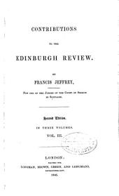 Contributions to the Edinburgh Review: Volume 3