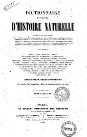 Dictionnaire universel d'histoire naturelle par messieurs Arago ... [et al.!: 5